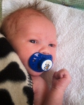 Blåvit bebis