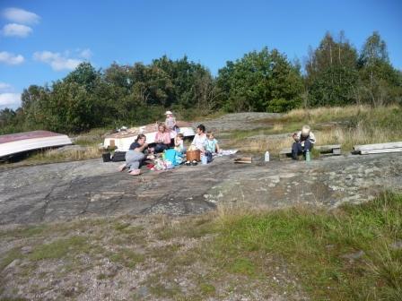 Lunch på en klippa
