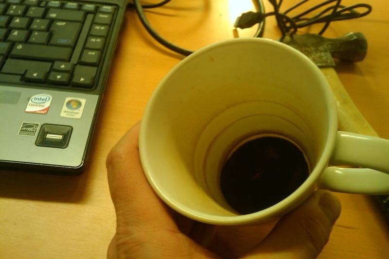Ny mugg, gammalt kaffe